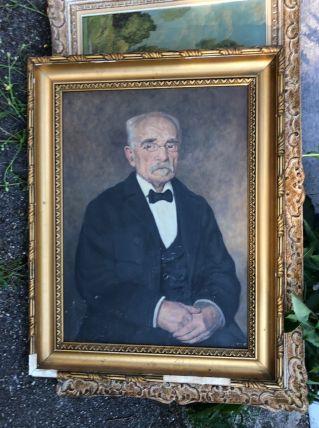 Portrait de vieille homme signé H.lety