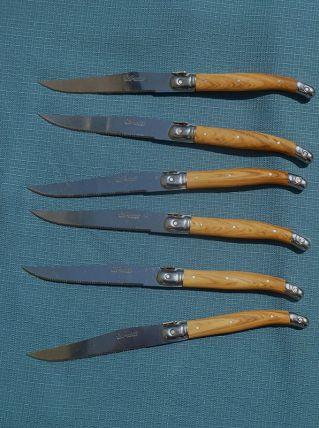 6 couteaux Laguiole inox trempé