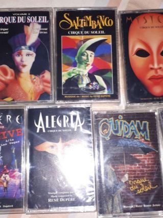 Cassesttes audio cirque du soleil