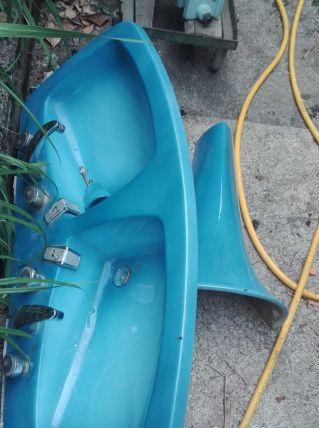 Lavabo double vasque année 70
