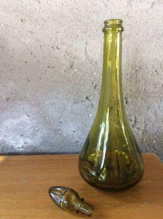 Carafe verte en verre - vintage