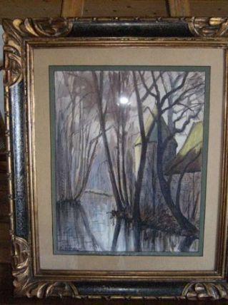 """aquarelle signée """"p.sollier"""""""