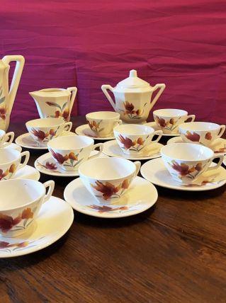 Service à café SARREGUEMINES, DIGOIN n°9225.
