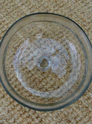 Cloche ronde ancienne en verre