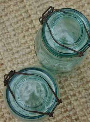 Bocal L'Idéale ancien vert clair 2litres
