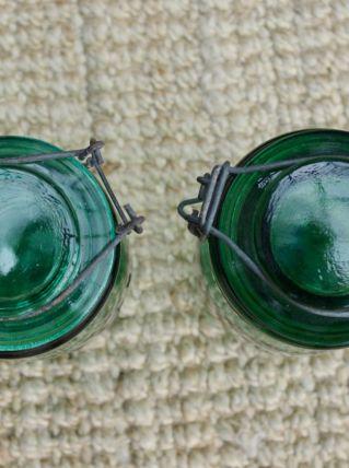 Bocal ancien l'Idéale vert foncé 1 litre