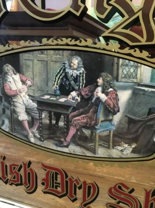 "Miroir publicitaire collector ""Old English"""
