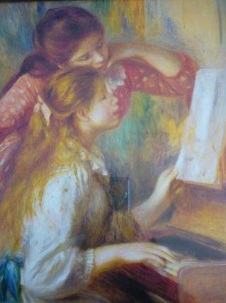 Auguste Renoir Jeunes filles au piano -Reproduction encadrée