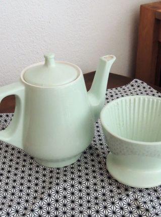 originale cafétière vert d'eau