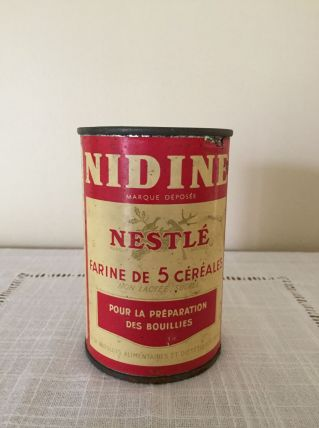 Boîte métal ancienne Nidine de Nestlé