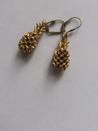 Boucles vintage ananas