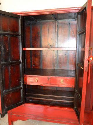 Armoire de mariage chinoise  bois de sapin certifiée