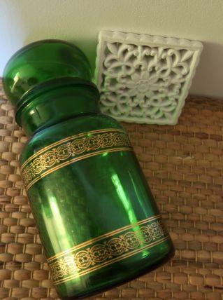 Pot de pharmacie Vintage vert .