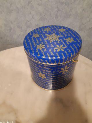 Boîte bleue en métal, spécial Noël, grand format