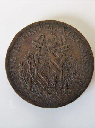 Pièce 5 Baiocchi vatican 1849 R