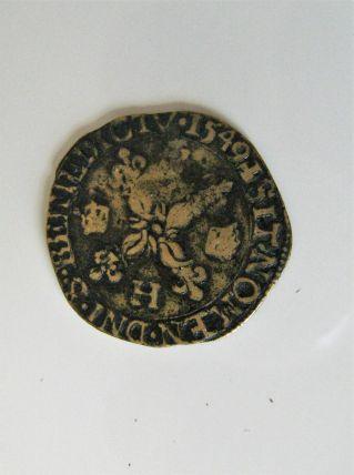 Douzain aux croissants 1549 Henri II