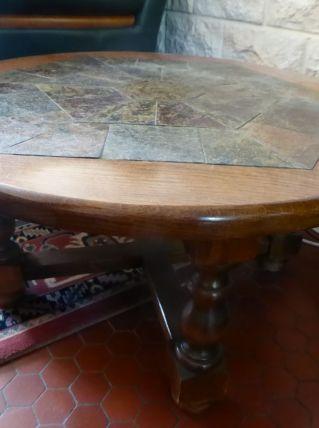 Table basse ronde ardoise
