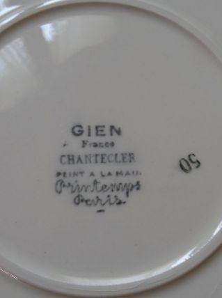 Plat Chantecler Gien