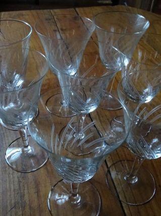 verres à pied ciselé