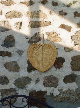 Eventail ou palme osier coeur