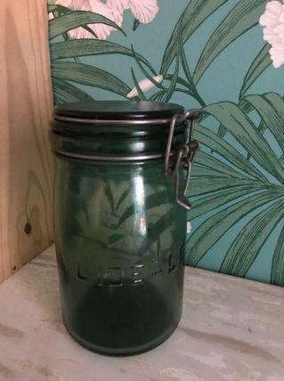 Bocal en verre IDÉALE vert