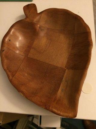 Vide poche / soucoupe pomme bois vintage