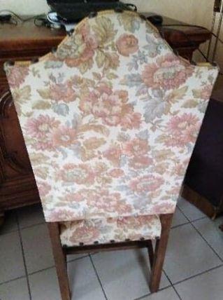Chaise tissu et bois