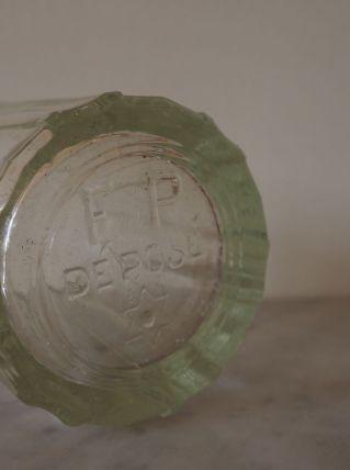 Pot à confiture en verre épais, soufflé et à facettes