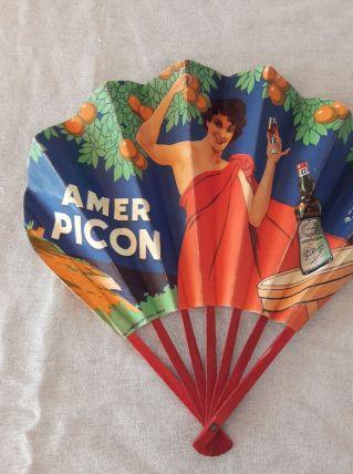 Ancien Éventail publicitaire Amer Picon