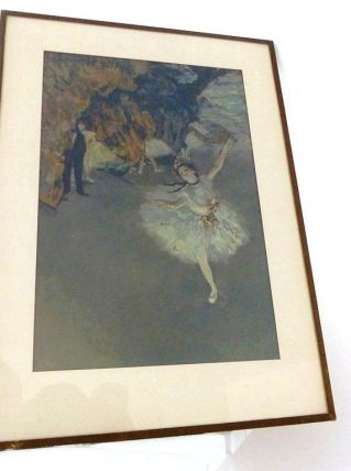 Lithographie Repro Tableau Edgar DEGAS La Danseuse Etoile