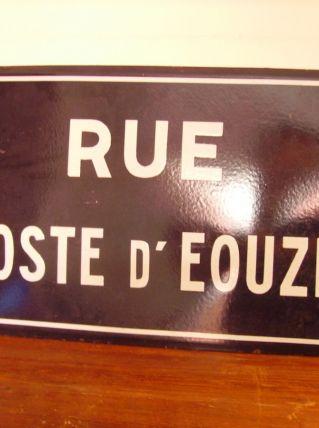 Grande plaque de nom de rue émaillée 50X30cm