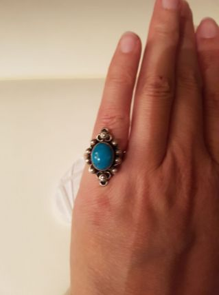 Bague turquoise taille 53