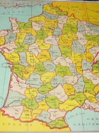 PUZZLE LA FRANCE PAR DEPARTEMENTS