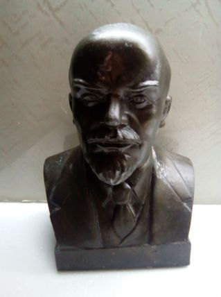 buste lenine metal epoque soviet