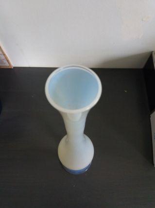 Vase soliflore opaline transparente blanche