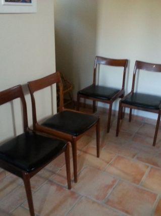 4 Chaises Danoises Vintage Année 50/60