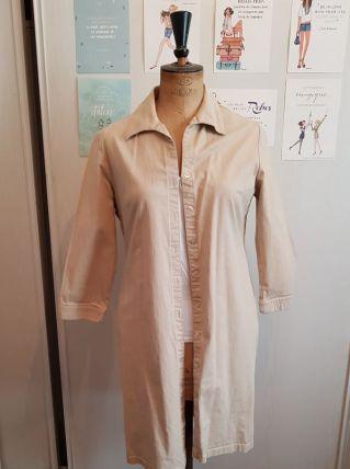 Robe beige en coton