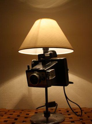 "LAMPE RECUP' VINTAGE ""POLAROID"" 3"