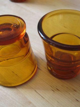 6 coquetiers en verre France Duralex Vintage
