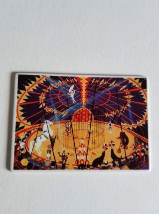 "carte postale Villeroy et Bosh (vilbo card) ""le cirque"""