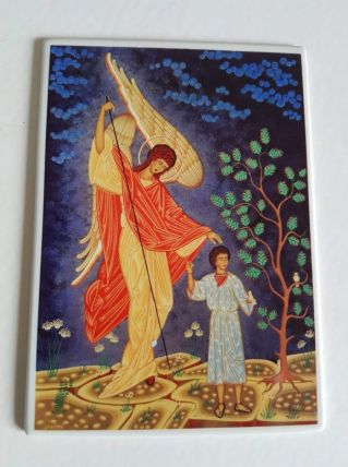 "carte postale Villeroy et Bosh ""ange gardien"""