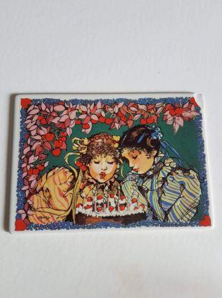 """carte postale Villeroy et Bosh """"fête d'anniversaire"""""""