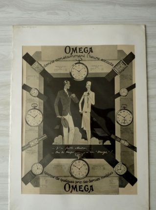 """AFFICHE ancienne Montres """"OMEGA"""""""