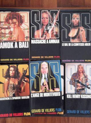 Lot de 87 roman d'espionnage SAS de Gérard de Villiers