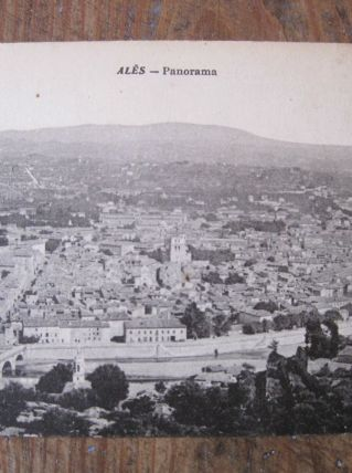 CARTE POSTALE ANCIENNE  30 - ALES /30 -PANORAMA