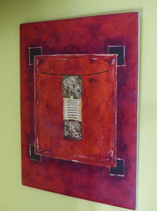 tableau de peintre thailandais 80x60cm