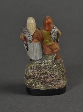 Couple de pêcheurs en terre cuite de l'Isle Adam