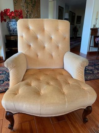 Fauteuils vintage style Chesterfield