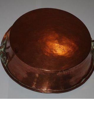 Plat rond cuivre