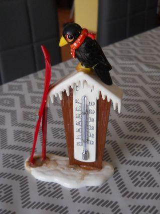 baromètre vintage pingoin